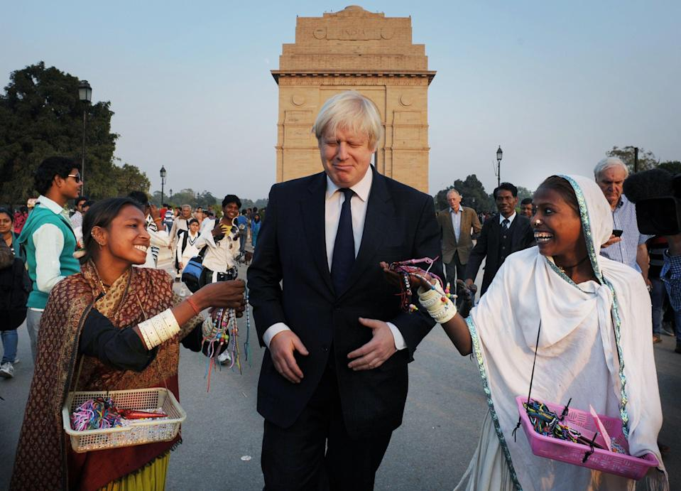 Boris Johnson has visited India as both London mayor and foreign secretary (PA)