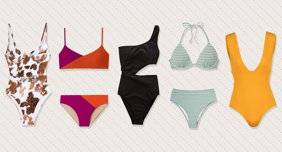 The hottest swimsuit trends to know for 2019 and where to buy them. (Photo: Onia, Summersalt, Aerie, Target, Andie, Art: Yahoo Lifestyle photo-illustration)