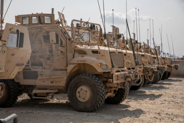 FILE PHOTO: U.S. forces prepare withdrawal in Kandahar
