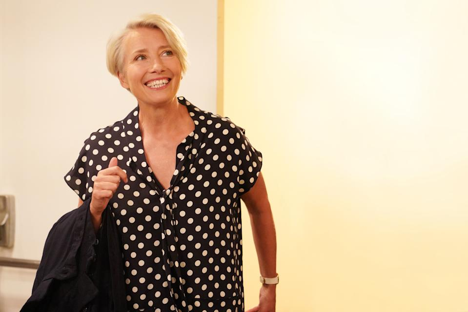 "SATURDAY NIGHT LIVE -- ""Emma Thompson"" Episode 1766 -- Pictured: Host Emma Thompson during Promos on Tuesday, May 7, 2019 -- (Photo by: Rosalind O'Connor/NBCU Photo Bank/NBCUniversal via Getty Images via Getty Images)"