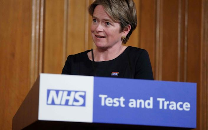 Executive Chair of NHS Test and Trace, Baroness Dido Harding - PIPPA FOWLES/AFP
