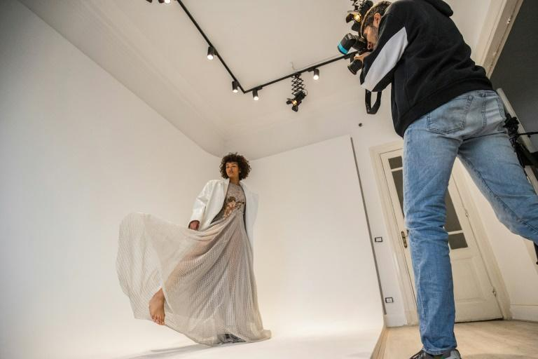 Mariam Abdallah says she has been doing more modelling overseas than in Egypt (AFP/Khaled DESOUKI)