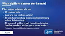 PHOTO: A CDC graphic released by the White House on Sept. 27, 2021, outlines who is currently eligible for a Pifzer COVID-19 vaccine booster shot. (CDC)