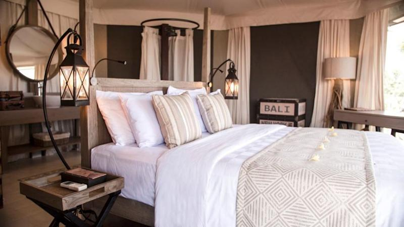 Or you can pay for a dreamy beach-themed room looking out over the white sandy beach. Source: Deborah Dickson-Smith