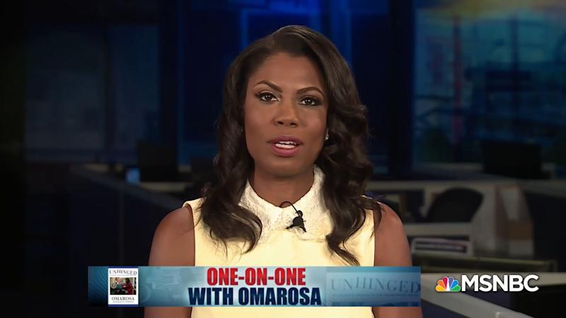 Former White House aide Omarosa Manigault-Newman on Sunday called President Donald Trump a racist who uses people as props. (Photo: MSNBC)