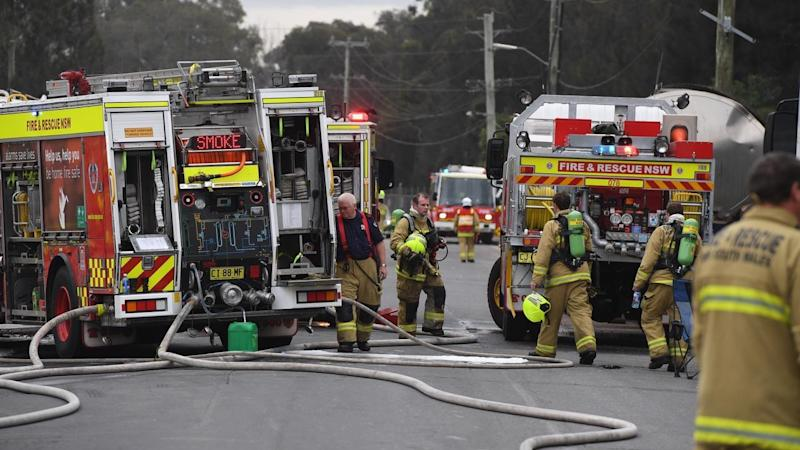 A 55-year-old man has suffered extensive burns in a factory fire in Sydney's west.