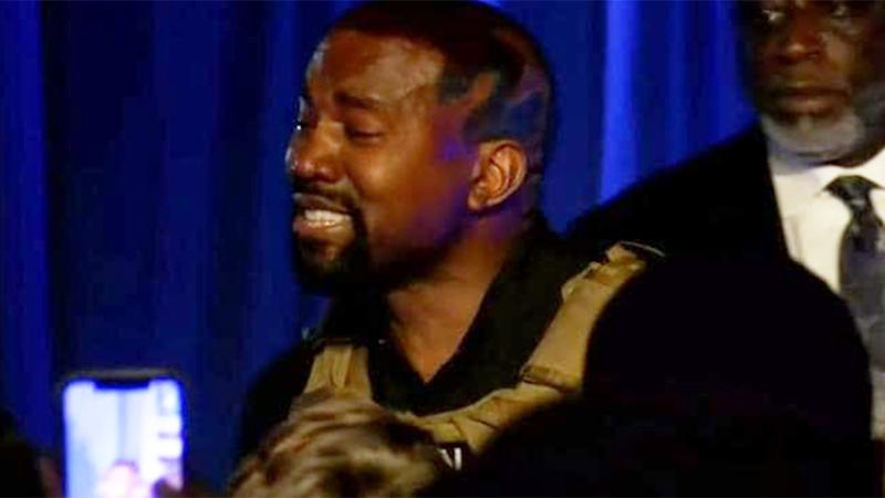 kanye west crying rally