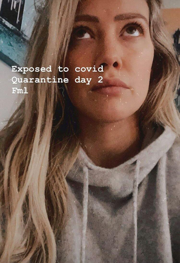 Pregnant Hilary Duff Says She Was 'Exposed' to COVID-19: 'Quarantine Day 2'