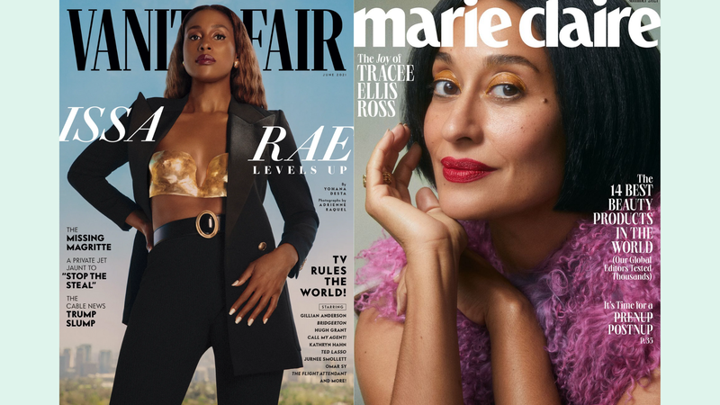 Issa Rae for Vanity Fair, Tracee Ellis Ross for Marie Claire