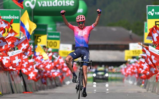 Hugh Carthy wins stage nine of the Tour de Suisse, the first WorldTour victory for the British rider - Velo