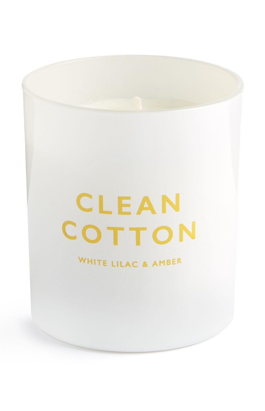 <p>Clean cotton candle, price unknown</p>