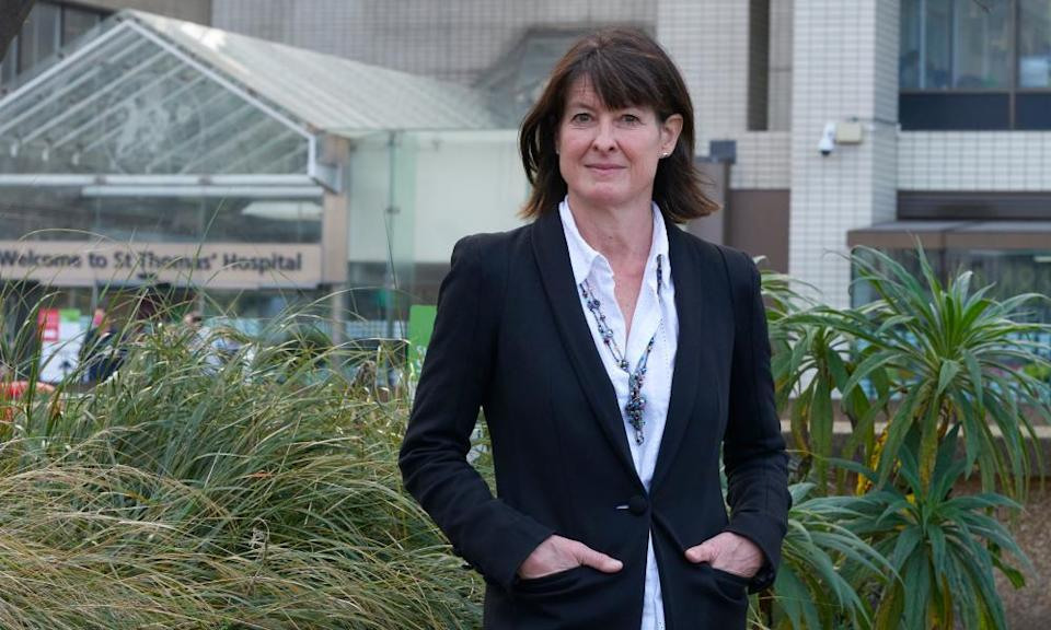 'Many people feel unsupported': Professor Frances Williams outside St Thomas' Hospital.