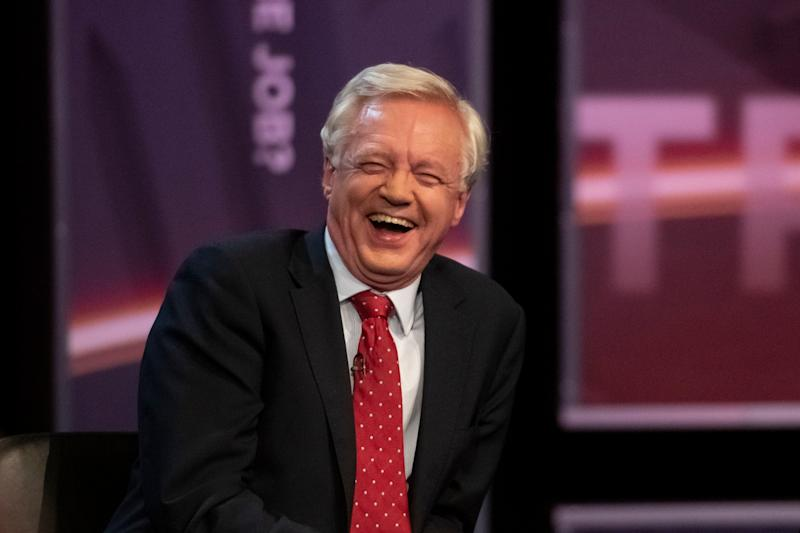 David Davis speaking at Channel 5's 'Are Politicians Up to It?' debate earlier this month (file image): David Mirzoeff/PA