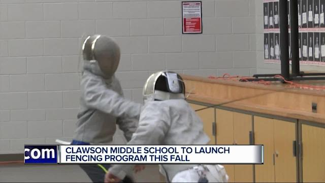 Clawson middle school is launching a fencing program in the fall