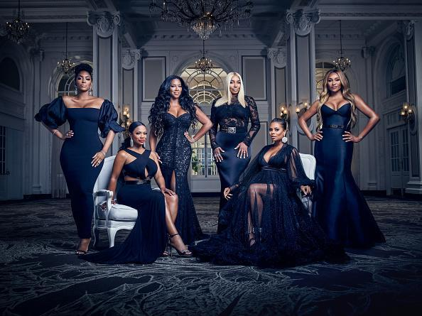 "The Real Housewives of Atlanta Season 12 - Pictured: (l-r) Porsha Williams, Kandi Burruss Tucker, Kenya Moore, NeNe Leakes, Eva Marcille, Cynthia Bailey<span class=""copyright"">Tommy Garcia—Bravo/NBCU Photo Bank/Getty Images</span>"