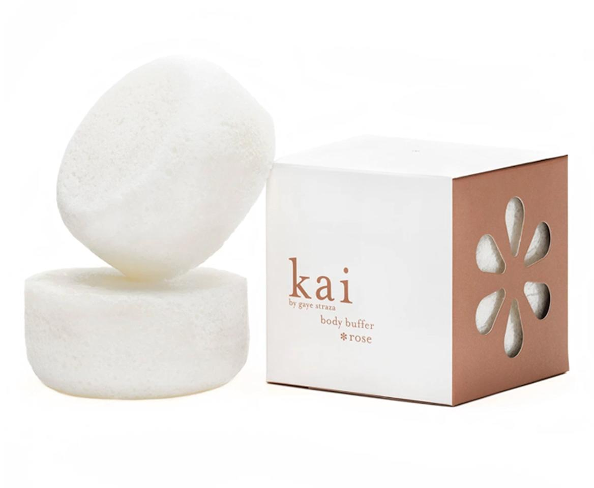 """Exfoliating never smelled so delightful!  <strong>Buy It!</strong> Kai Rose Body Buffer ($40), <a href=""""https://kaifragrance.com/products/kai-rose-body-buffer"""" target=""""_blank"""">kaifragrance.com</a>"""