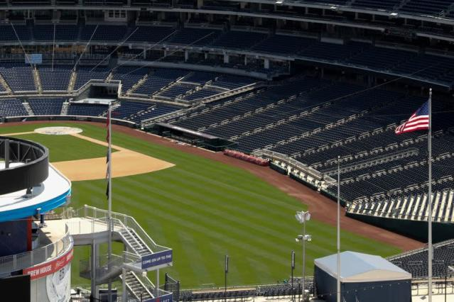 FILE PHOTO: Nationals Park is seen after MLB owners reportedly approved a plan for a coronavirus-delayed baseball season in Washington