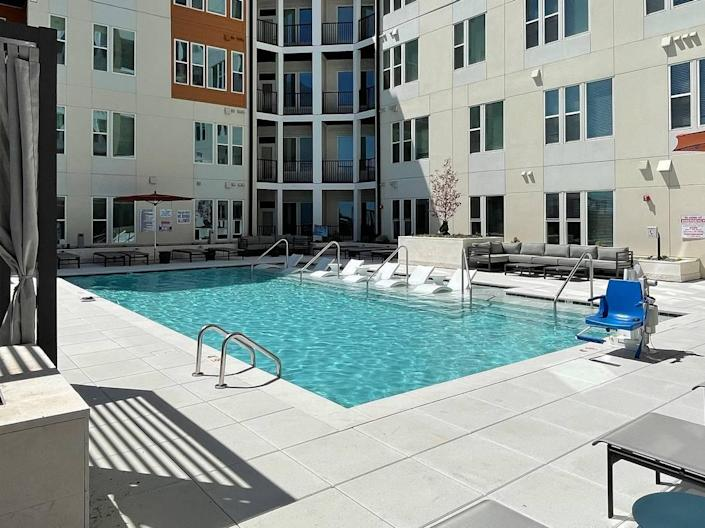 Separate pools serve the mid-rise and high-rise portions of The Ellis.