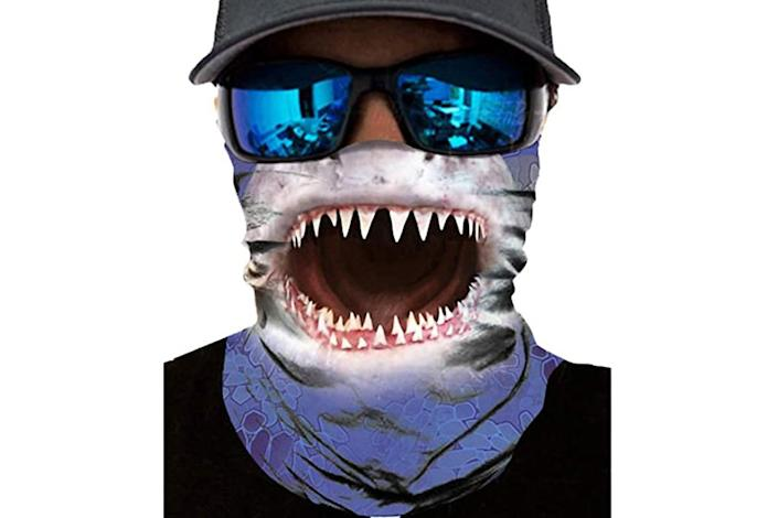 shark, face mask