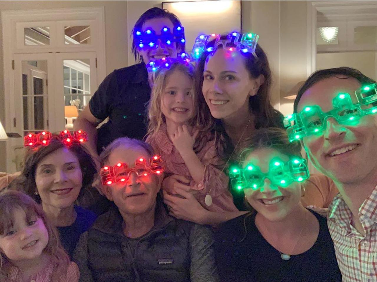 """Happiest New Year—2019 is going to be good!! (PS: does the countdown still count at 8ish?),"" Jenna captioned the super-fun <a href=""https://www.instagram.com/p/BsE3aoihuZ3/"">family photo, joking about putting her girls down early.</a>"