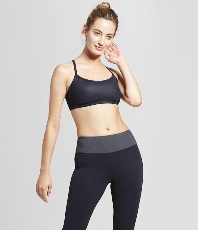 "<p>Women's Strappy Back Shine Bra, $15, <a href=""https://www.target.com/p/women-s-strappy-back-shine-bra-joylab-153/-/A-52730517?lnk=rec