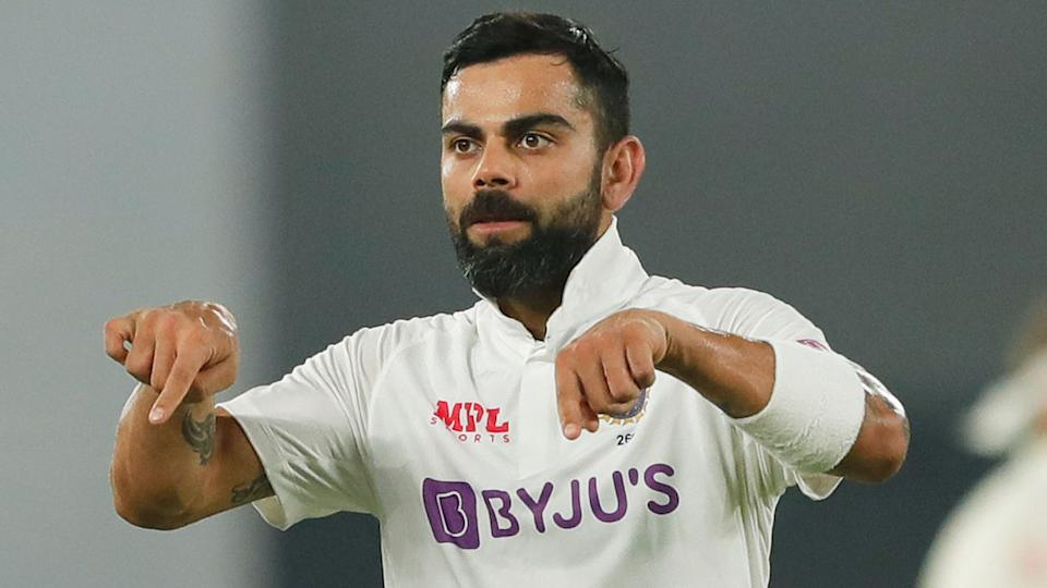 Pictured here, Virat Kohli in action during the third Test against England.