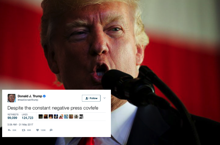 Covfefe, Covfefe! (Picture: Reuters/Twitter)