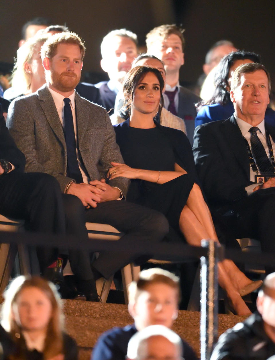 Meghan recycled a Stella McCartney cape dress for the Invictus Games opening ceremony [Photo: Getty]