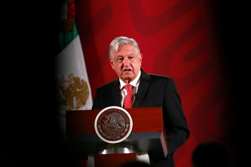 Mexico's President Obrador holds a news conference in Mexico City