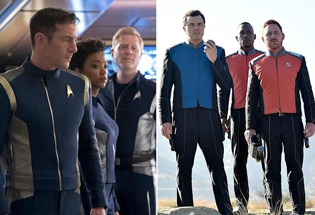 "<p>One of the biggest debates going on in fandom right now involves which <i>Star Trek </i>is true<i> Trek</i>; the official prequel series, <i>Discovery</i>, or Seth MacFarlane's <i>Next Generation </i>homage, <i>The Orville</i>. Set roughly a decade before Kirk and Spock boldly explored the final frontier, <i>Discovery </i>has taken the franchise in compelling, if controversial new directions in the first half of its freshman season, with darker storylines and its most morally complex captain (played by Jason Isaacs). <i>The Orville</i>, on the other hand, keeps things in a lighter vein while also developing its own distinct mythology over the course of its maiden voyage. Remember: It's always best to sample both flavors before deciding which you prefer. <em>— E.A.</em><br><br><i>Available to stream: <a href=""https://www.youtube.com/watch?v=hC7IMj7WFyE"" rel=""nofollow noopener"" target=""_blank"" data-ylk=""slk:CBS All Access"" class=""link rapid-noclick-resp"">CBS All Access</a>, <a href=""https://view.yahoo.com/search?query=orville"" data-ylk=""slk:Hulu"" class=""link rapid-noclick-resp"">Hulu</a></i><br><br>(Photo: CBS/20th Century Fox) </p>"