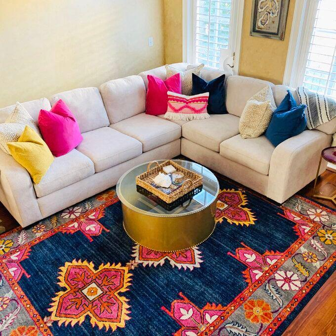 """<h2>Bungalow Rose Arteaga Area Rug</h2><br><strong>Deal: 71% Off</strong><br>Over 1,000 reviews have popped this vibrant (and irresistibly on-sale) area rug in its top bestsellers' spot. Its 4.8-out-of-5-star rating can be attributed to its superb quality — that one customer describes as, """"One of the BEST purchases I've ever made! This rug is even more be beautiful in person-it rivals a very pricey """"Caitlin Wilson"""" rug which costs thousands. I have received sooo many compliments. I'm tempted to order the biggest size for my great room now. Don't hesitate on this one-I promise you will LOVE it and you seriously can't beat the price!! Btw, this material is super low maintenance and great with kids and dogs.<br><br><strong>Bungalow Rose</strong> Arteaga Area Rug, $, available at <a href=""""https://go.skimresources.com/?id=30283X879131&url=https%3A%2F%2Fwww.wayfair.com%2Frugs%2Fpdp%2Fbungalow-rose-arteaga-navygray-area-rug-w002852820.html%3F"""" rel=""""nofollow noopener"""" target=""""_blank"""" data-ylk=""""slk:Wayfair"""" class=""""link rapid-noclick-resp"""">Wayfair</a>"""