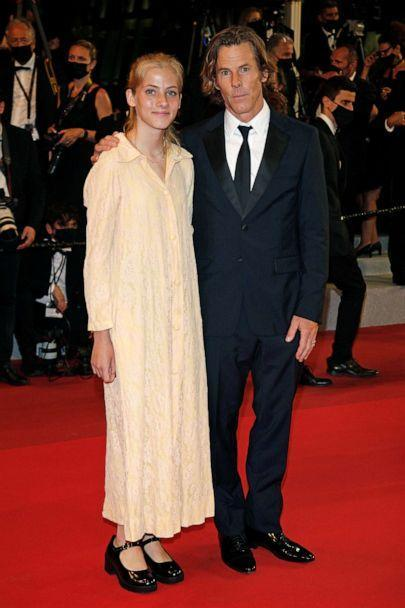 PHOTO: Danny Moder and daughter Hazel Moder arrive for the premiere of 'Flag Day' at the 74th Cannes Film Festival held at the Palais des Festivals in Cannes, France, July 10, 2021. (Barcroft Media via Getty Images)