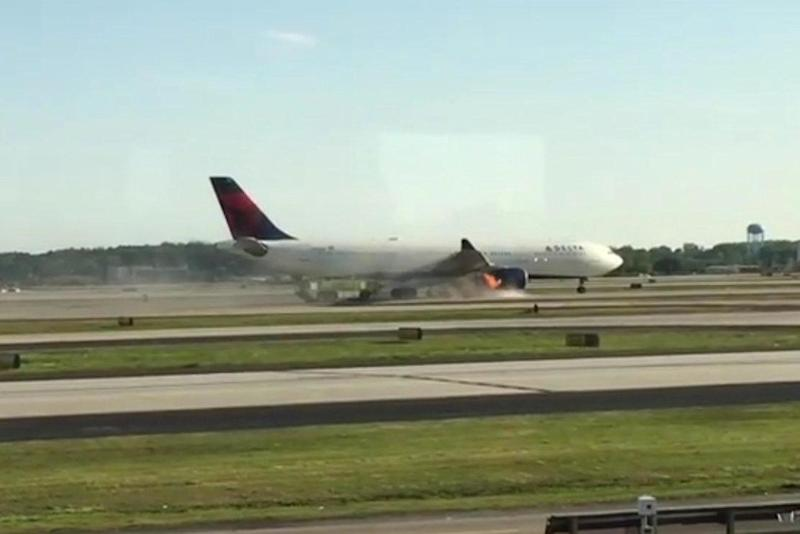 Delta Air Lines: The plane was forced to land after smoke began billowing from one of its engines: REUTERS