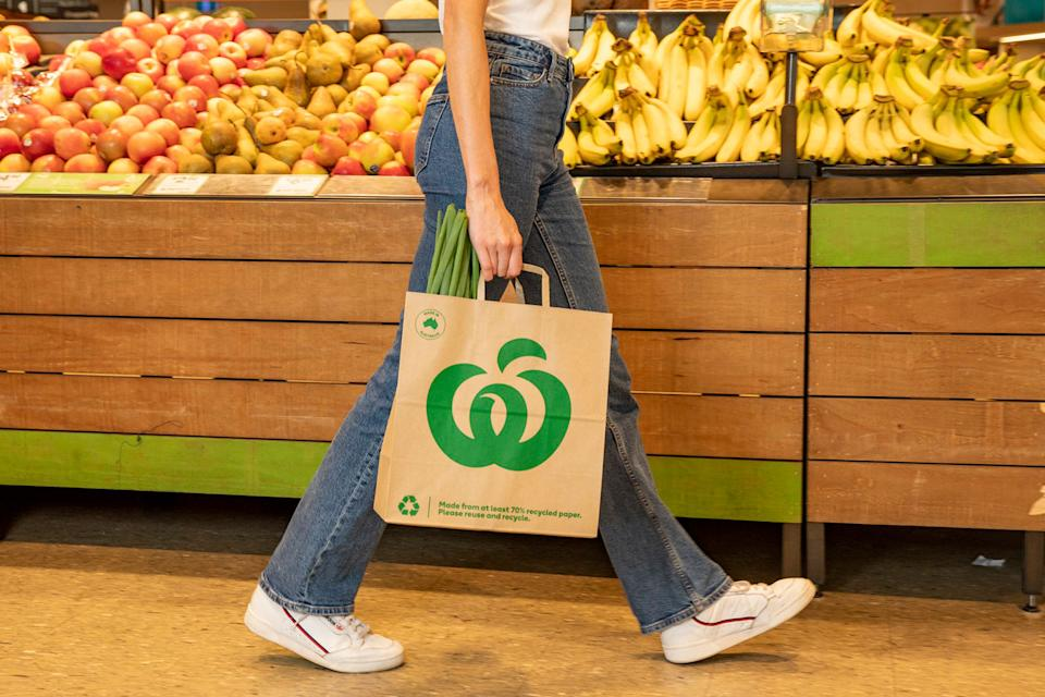 Woolworths plans on rolling out the Australian-made bags across all of Australia by the end of the year. Source: Supplied/Woolworths