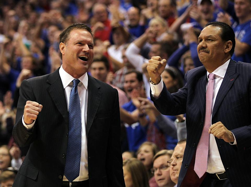 Kurtis Townsend, right, has been on head coach Bill Self's staff at Kansas since 2004. (Getty)