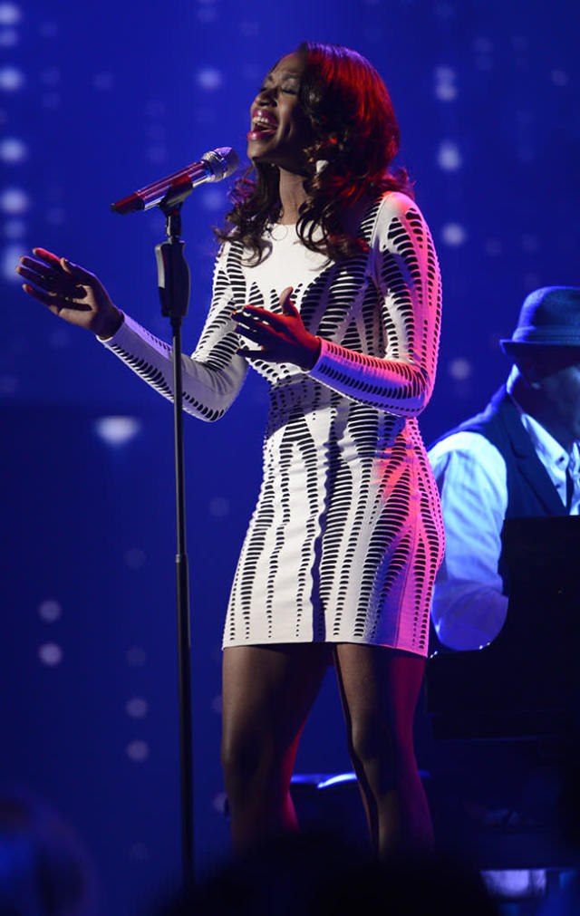 "Amber Holcomb performs Stevie Wonder's ""Lately"" on the Wednesday, March 27 episode of ""American Idol."""
