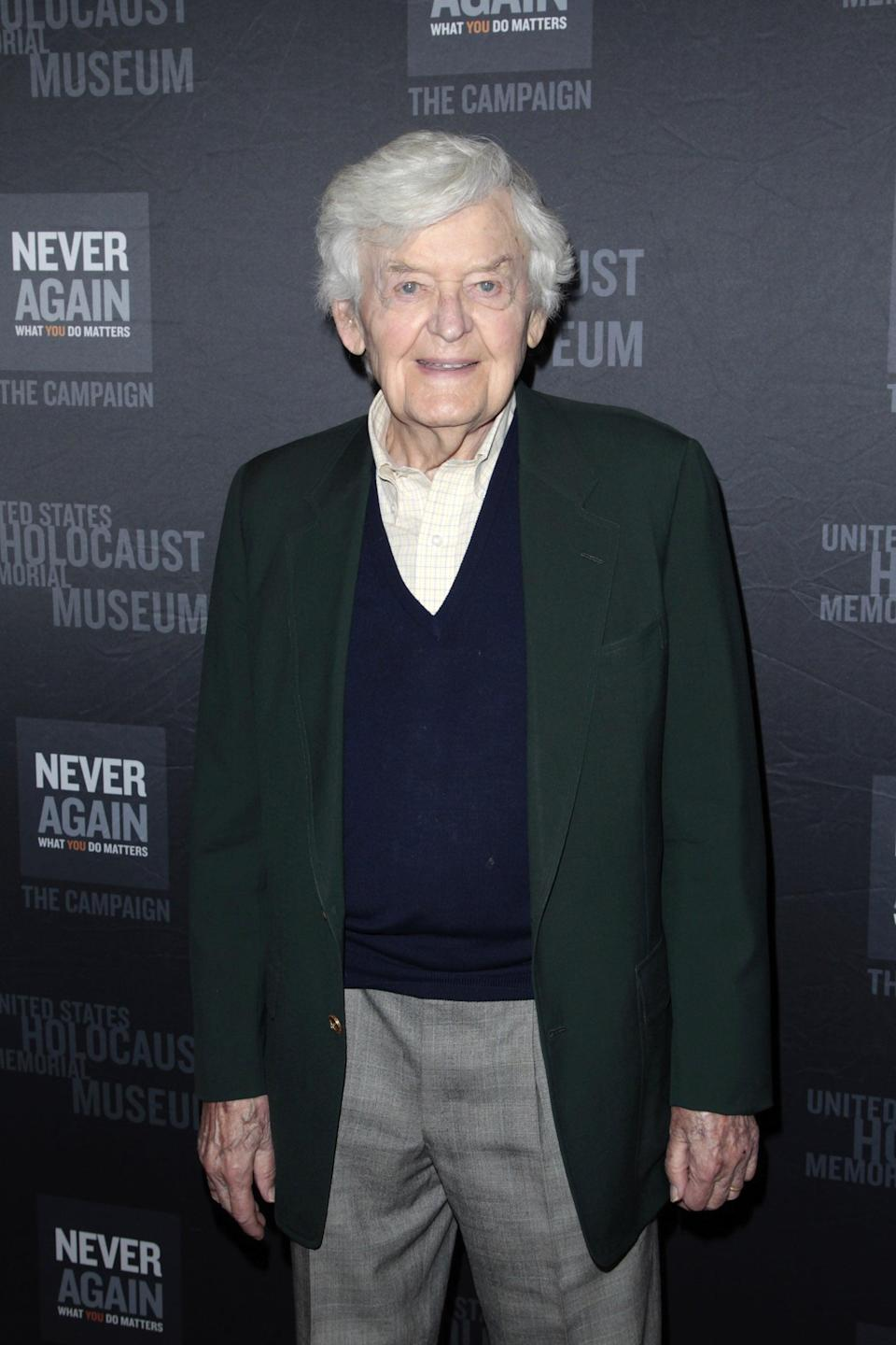 """<p>The Tony-winning actor, who was well known for his portrayal of Mark Twain in the Broadway play <strong>Mark Twain Tonight!</strong>, <a href=""""http://variety.com/2021/film/news/hal-holbrook-dead-dies-emmy-tony-winning-actor-mark-twain-1234898102/"""" class=""""link rapid-noclick-resp"""" rel=""""nofollow noopener"""" target=""""_blank"""" data-ylk=""""slk:died on Jan. 23 at age 95"""">died on Jan. 23 at age 95</a>. </p>"""