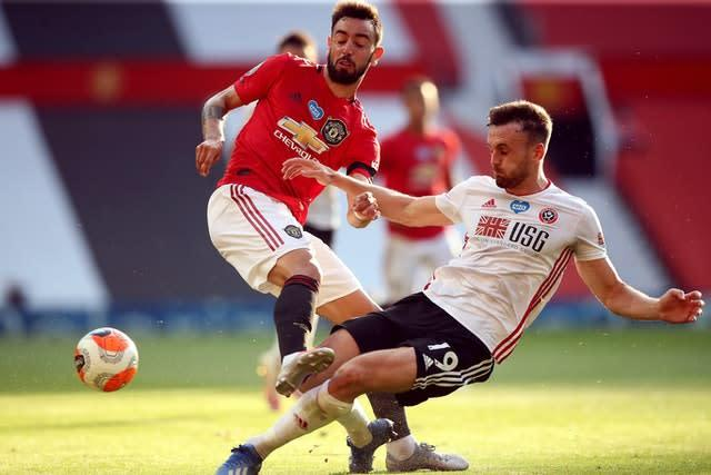Bruno Fernandes impressed again for Manchester United (Martin Rickett/NMC Pool/PA)