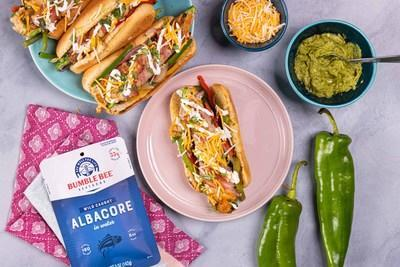 LA street dogs reimagined with Bumble Bee® tuna and Anaheim chilis.