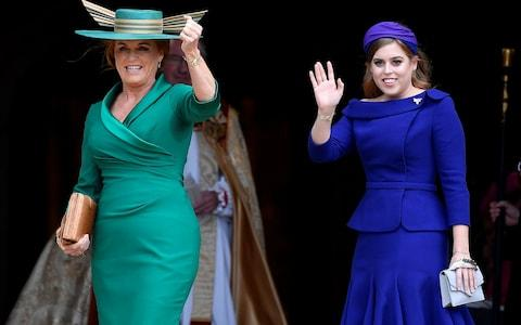 Princess Beatrice and Sarah Ferguson arrive at Windsor Castle for the royal wedding of Britain's Princess Eugenie and Jack Brooksbank in Windsor - Credit: Reuters