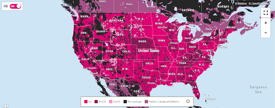 T-Mobile 5G coverage