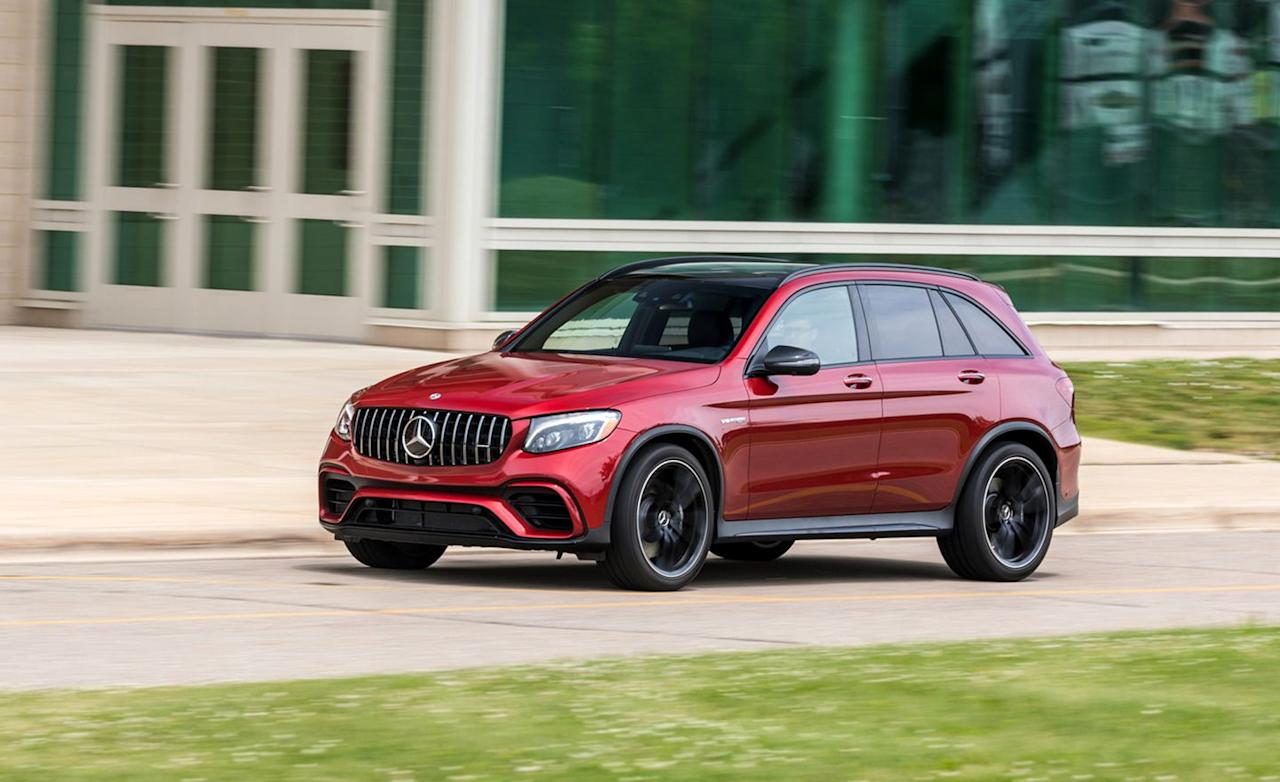 "<p>Mercedes-AMG offers two distinct versions of its twin-turbocharged V-8 in the GLC63. <a rel=""nofollow"" href=""https://www.caranddriver.com/mercedes-amg/glc43-coupe-glc63-coupe"">The GLC63 coupe</a>-in essence the stranger-looking, less useful of the two available body styles-can be had in 469- and 503-hp strengths. </p>"