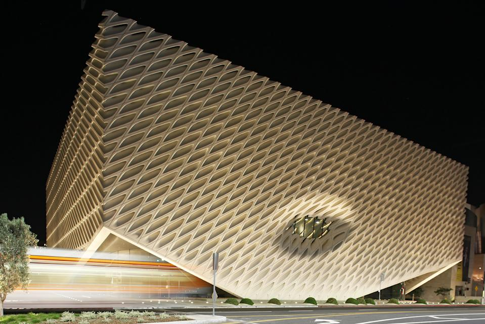 The Broad Museum in Los Angeles is offering virtual exhibitions (Photo by FG/Bauer-Griffin/GC Images)