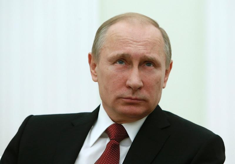 Russian President Vladimir Putin's last public appearance was a meeting with Italian Prime Minister Matteo Renzi (unseen) at the at the Kremlin, on March 5, 2015