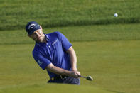Branden Grace, of South Africa, chips up to the first green during the second round of the PGA Championship golf tournament on the Ocean Course Friday, May 21, 2021, in Kiawah Island, S.C. (AP Photo/Matt York)