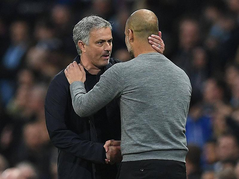 Mourinho and Guardiola are long-standing rivals (Getty)