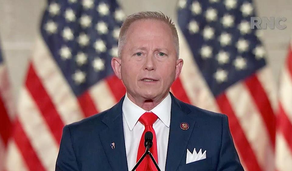 U.S. Rep. Jeff Van Drew (R-NJ) addresses the Republican National Convention on August 27, 2020. (Photo Courtesy of the Committee on Arrangements for the 2020 Republican National Committee via Getty Images)