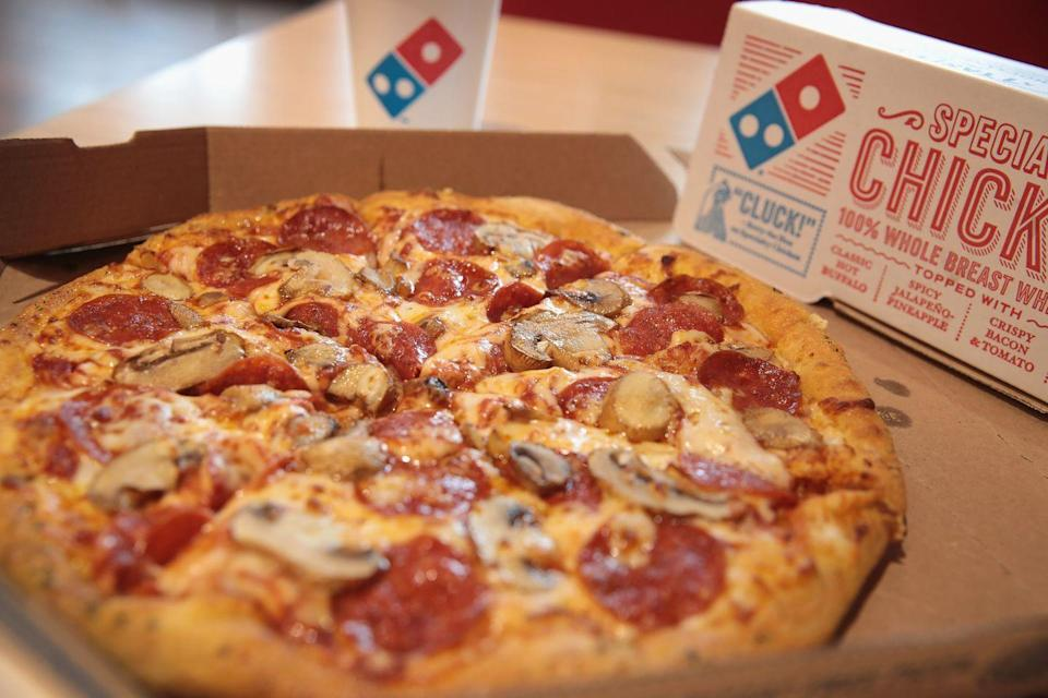 """<p>""""At Dominos, don't order the Philly steak or American cheese, it's only used on the sandwiches and one specialty pizza so it usually goes bad and we have to throw it out often."""" — <a href=""""https://www.reddit.com/r/AskReddit/comments/4c2hat/fast_food_workerswhat_should_we_never_order_from/d1ep8ds/"""" rel=""""nofollow noopener"""" target=""""_blank"""" data-ylk=""""slk:whyamiupattwoam"""" class=""""link rapid-noclick-resp""""><em>whyamiupattwoam</em></a></p>"""