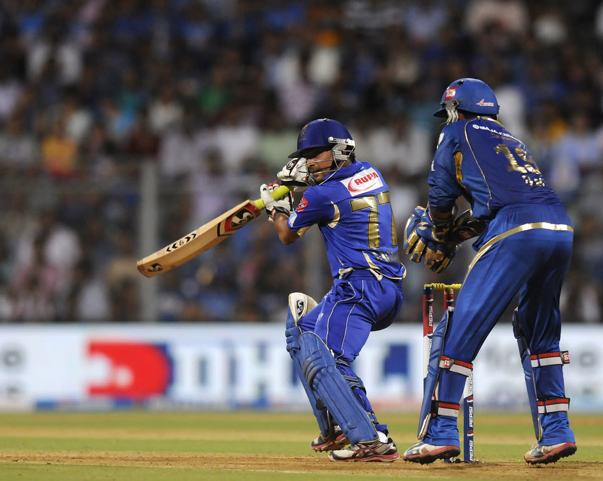 Dishant Yagnik of Rajasthan Royals bats during match 66 of the Pepsi Indian Premier League ( IPL) 2013  between The Mumbai Indians and the Rajasthan Royals held at the Wankhede Stadium in Mumbai on the 15th May 2013 ..Photo by Pal Pillai-IPL-SPORTZPICS ..Use of this image is subject to the terms and conditions as outlined by the BCCI. These terms can be found by following this link:..https://ec.yimg.com/ec?url=http%3a%2f%2fwww.sportzpics.co.za%2fimage%2fI0000SoRagM2cIEc.&t=1506366598&sig=CqUKRDewBDzP9vPkbOko_g--~D