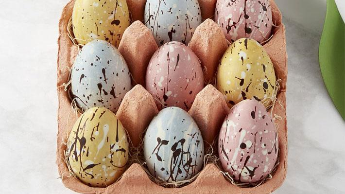 """<p><a rel=""""nofollow"""" href=""""http://www.foodandwine.com/slideshows/eggs"""">Eggs</a>, a symbol for spring and new life, are best enjoyed on Easter in <a rel=""""nofollow"""" href=""""http://www.foodandwine.com/slideshows/chocolate-desserts"""">chocolate</a> form. These pastel-hued confections are made from single-source cocoa beans and look beautiful sitting in their carton. ($45, <a rel=""""nofollow"""" href=""""http://williams-sonoma.7eer.net/c/249354/265127/4291?subId1=EasterOrderingFW&u=http%3A%2F%2Fwww.williams-sonoma.com%2Fproducts%2Fspeckled-chocolate-egg-crate%2F%3Fpkey%3Dceaster-food%7Ceaster-food-candy%26isx%3D0.0.3654"""">Williams Sonoma</a>)</p>"""